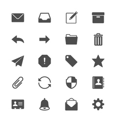 Email flat icons vector