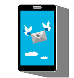 email message on mobile phone screen vector image