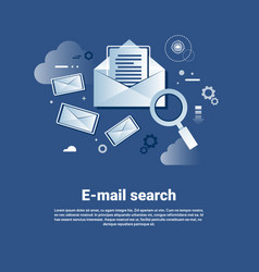 Email search template web banner with copy space vector