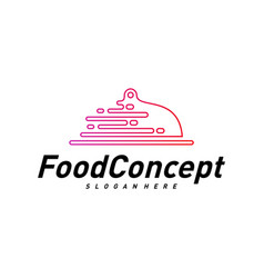 fast food logo concept cooking logo design vector image