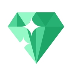Flat design of Green gemstone vector image