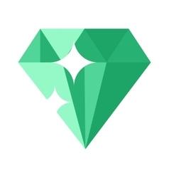 Flat design of Green gemstone vector
