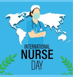 For international nurse day vector