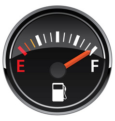 gas fuel automotive dashboard gauge vector image