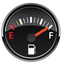 Gas fuel automotive dashboard gauge vector