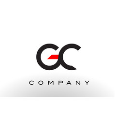Gc logo letter design vector