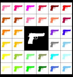 gun sign felt-pen 33 vector image