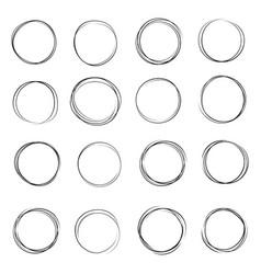 hand drawn circle vector image
