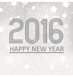 Happy new year 2016 on grayscale stars background vector
