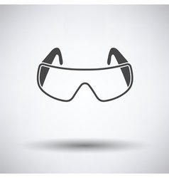 Icon of chemistry protective eyewear vector image