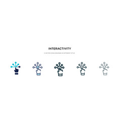 Interactivity icon in different style two vector