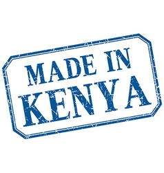 Kenya - made in blue vintage isolated label vector