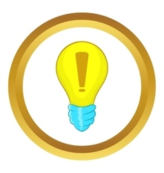 Light bulb idea icon vector