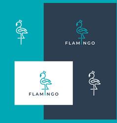 Logo design flamingo vector
