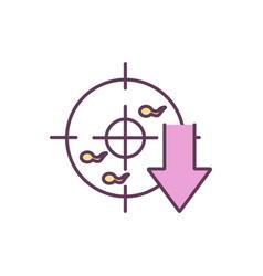 Low sperm count rgb color icon vector