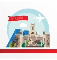 Madrid detailed silhouette Trendy vector
