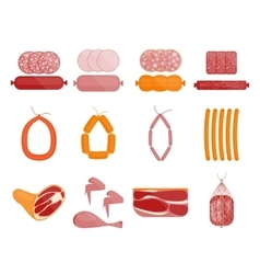 Meat and Sausage Set vector image