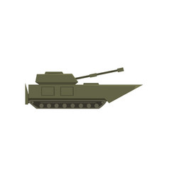 military armored tank army vehicle heavy vector image