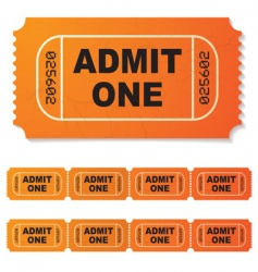 movie ticket vector image