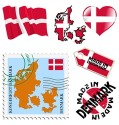 national colours of Denmark vector image