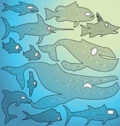 ocean fish vector image