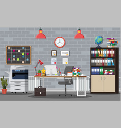 office building interior vector image