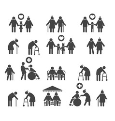 retired people family vector image