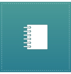 Ring binder calendar notepad - icon isolated vector image