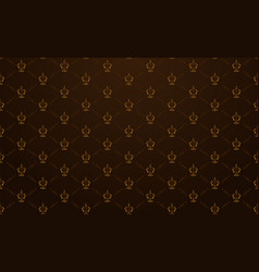 Seamless royal background in vintage style vector