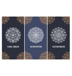 set luxury packaging templates in modern vector image