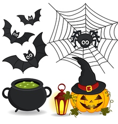 set of icon Halloween vector image
