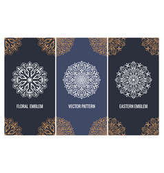 set of luxury packaging templates in modern vector image