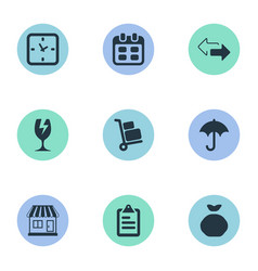 Set of simple surrender icons vector