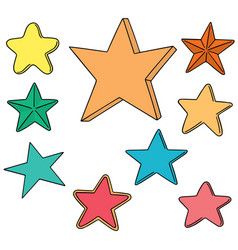 set of star vector image