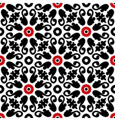 Suzani pattern with bold floral ornament vector