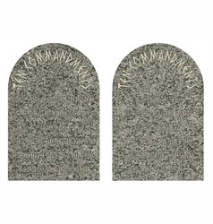 The ten commandments vector