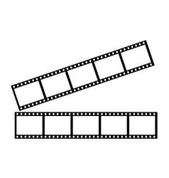 Two stripes five frames 35 mm film strip vector