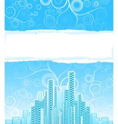 urban spirals advert background vector image