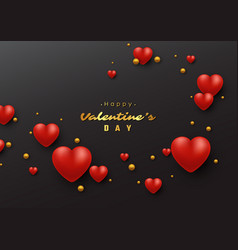 valentines day holiday background vector image