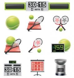 vector tennis icon set vector image