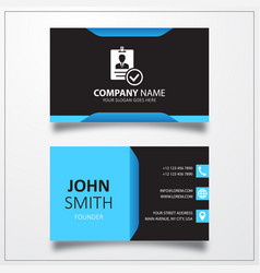 Verified id card icon business card template vector