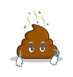 Waiting poop emoticon character cartoon vector
