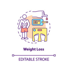 Weight loss concept icon vector