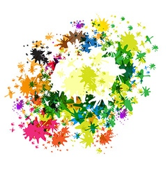 Abstract Colorful Splashes on White Background vector image