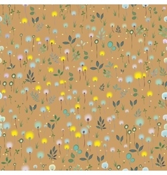 Blossoming Field Floral Seamless Pattern vector image