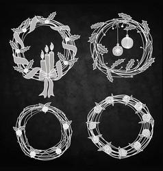 Holiday wreaths vector