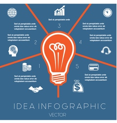 Idea Business Concept Light bulb infographic5 vector image vector image