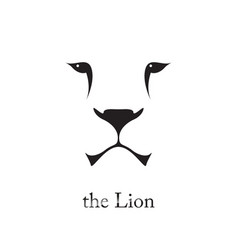image of an lion head on white background vector image