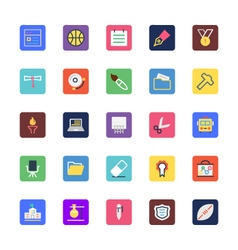 School and education colored icons 4 vector
