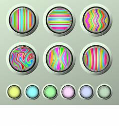 silk buttons vector image vector image